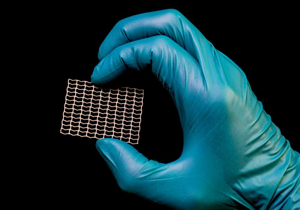 Kraniale Implantate aus Titan Ätzen